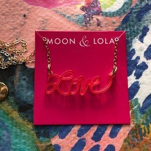 Moon and Lola Acrylic LOVE Necklace *Brand New*
